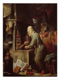 The Alchemist Giclee Print by David Teniers the Younger