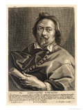 Self Portrait, Engraved by Johannes Meyssens Reproduction proc&#233;d&#233; gicl&#233;e par Jacob The Elder Jordaens