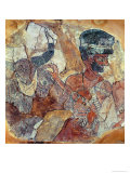 Priest Leading a Bull to Sacrifice, from the Palace of Zimri-Lim, Mari, Middle Euphrates Giclee Print by  Mesopotamian