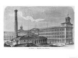 La Foudre Cotton Mill, Les Grandes Usines by Julien Turgan, Engraved by Edward Etherington Giclee Print by Auguste Bertrand