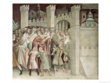The Crowd at the Entrance to Jerusalem, from a Series of Scenes of the New Testament Giclee Print by Barna Da Siena