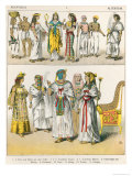 Egyptian Dress, from Trachten Der Voelker, 1864 Giclee Print by Albert Kretschmer