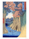 The Monkey Bridge in the Kai Province, from the Series Rokuju-Yoshu Meisho Zue Giclee Print by Ando Hiroshige