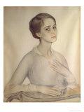 Portrait of Olga Spesivtseva, 1917 Giclee Print by Savelij Abramovich Sorin