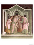 Judas Receiving Payment For His Betrayal, from a Series of Scenes of the New Testament Giclee Print by Barna Da Siena