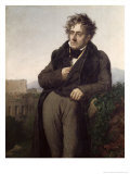 Portrait of Francois Rene Gicle-tryk af Anne-Louis Girodet de Roussy-Trioson