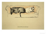 Excommunication, 1930, 1st Edition of Sleeping Partners Giclee Print by Cecil Aldin