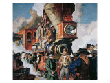 The Ceremony of the Golden Spike on 10th May, 1869 Giclee Print by Dean Cornwell