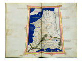 Map of Gaul, Belgium, Lyon and Aquitaine Giclee Print by  Ptolemy