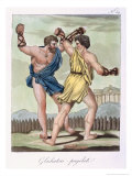 Gladiators, from Antique Rome Engraved by Labrousse, Published 1796 Giclee Print by Jacques Grasset de Saint-Sauveur