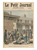 Jewish Refugee Camp in the Gare de Lyon, from Le Petit Journal, Supplement Illustre, 1892 Giclee Print by Henri Meyer
