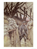Infantrymen in a Trench, Notre-Dame de Lorette, 1915 Giclee Print by Francois Flameng