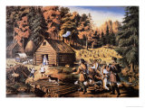 Pioneer's Home in the American Wilderness, 1867 Giclee Print by Frances Flora Bond Palmer