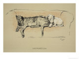 Separation, 1930, 1st Edition of Sleeping Partners Giclee Print by Cecil Aldin