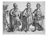 Three American Cherokee Chiefs, 1762 Giclee Print