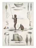 The Aboriginal Inhabitants: from South Australia Illustrated, Published in 1847 Giclee Print by George French Angas