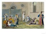 Persian Harem, Le Costume Ancien et Moderne, c.1820-30 Giclee Print by G. Bramati