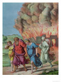 Lot's Wife Looks Back at Sodom and is Changed Into a Pillar of Salt, Illustration For a Catechism Giclee Print