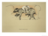 Trepidation, 1930, 1st Edition of Sleeping Partners Giclee Print by Cecil Aldin