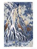 Kirifuri Fall on Kurokami Mount, from the Series 'shokoku Taki Meguri Giclée-Druck von Katsushika Hokusai