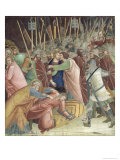 The Kiss of Judas, from a Series of Scenes of the New Testament Giclee Print by Barna Da Siena