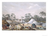 The Kapunda Copper Mine, from South Australia Illustrated, Published 1847 Giclee Print by George French Angas