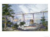 Railway Bridges at Louisville, Kentucky, 1872 Giclee Print by  American School