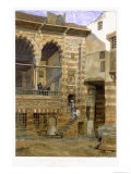 Courtyard, Al Hosh, in the House of Shiekh Sadat, Cairo, 1873 Giclee Print by Frank Dillon