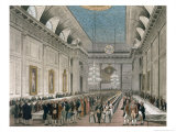 The Procession at Freemasons' Hall, Queen Street, Ackermann's Microcosm of London Giclee Print by Joseph Constantine Stadler