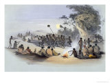 The Aboriginal Inhabitants: The Kuri Dance, from South Australia Illustrated, Published in 1847 Giclee Print by George French Angas