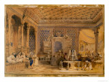 Interior of a Turkish Caffinet, Constantinople, 1838 Giclee Print by Thomas Allom