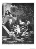 Joys of Being a Father, c.1797 Giclee Print by Philibert-Louis Debucourt