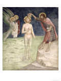 Baptism of Christ, from a Series of Scenes of the New Testament Giclee Print by Barna Da Siena