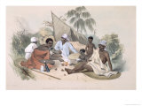 Aboriginal Inhabitants, Encampment of Native Women, Cape Jervis, South Australia Illustrated, 1847 Giclee Print by George French Angas