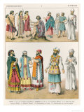 Early Asiatic Dress, from Trachten Der Voelker, 1864 Giclee Print by Albert Kretschmer