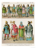 Anglo-Saxon Dress, from Trachten Der Voelker, 1864 Giclee Print by Albert Kretschmer