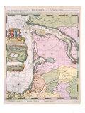 La Naptune Francois, Ou Atlas Des Cartes Marines, 1693 Giclee Print by Pierre Mortier