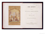 Title Page and Frontis Piece of Gothic Furniture, Pugin, Augutus Charles Giclee Print by Augustus Charles Pugin