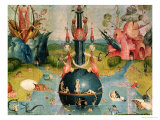 The Garden of Earthly Delights: Allegory of Luxury, Detail of the Central Panel, c.1500 Giclee Print by Hieronymus Bosch