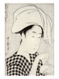 Tea-House in Ryogoku, from the Series Bijin Juyo Giclée-Druck von Utamaro Kitagawa