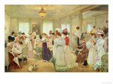 Cinq Heures Chez Le Couturier Paquin, 1906 Giclee Print by Henri Gervex