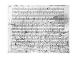 Autograph Score Sheet For the 10th Bagatelle Opus 119 Giclee Print by Ludwig Van Beethoven