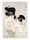 The Pleasure of Conversation, from the Series Tosei Kobutsu Hakkei Reproduction procédé giclée par Utamaro Kitagawa