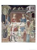 Satan Asking God to Tempt Job, 1356-67 Giclee Print by Also Manfredi De Battilori Bartolo Di Fredi