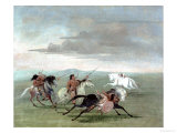 Comanche Feats of Martial Horsemanship, 1834 Giclee Print by George Catlin