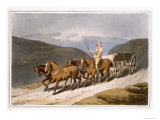 East Riding or Wolds Wagon, Engraved by Robert Havell the Elder, Pub.1814, Robinson and Son, Leeds Giclee Print by George Walker