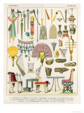 Egyptian Accessories, from Trachten Der Voelker, 1864 Giclee Print by Albert Kretschmer