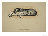 Gratification, 1930, 1st Edition of Sleeping Partners Giclee Print by Cecil Aldin