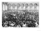 The Corbeille at the Bourse of Paris, 1873 Giclee Print by Jules Pelcoq