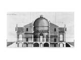 Cross-Section of the Villa Rotonda Near Vicenza, Designed by Andrea Palladio Giclee Print